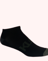 Black No Look Bamboo Athletic Sock