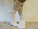 Athletic 3/4 Crew Socks Solid White