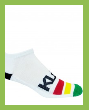 White No Look Bamboo Athletic Sock